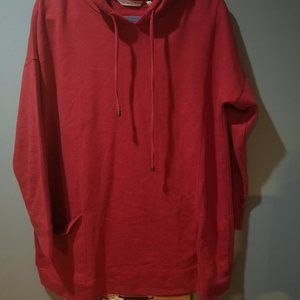 Soft Surroundings Soho Hoodie Red Heather size L